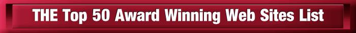 Top 50 Award Winning Web Sites List